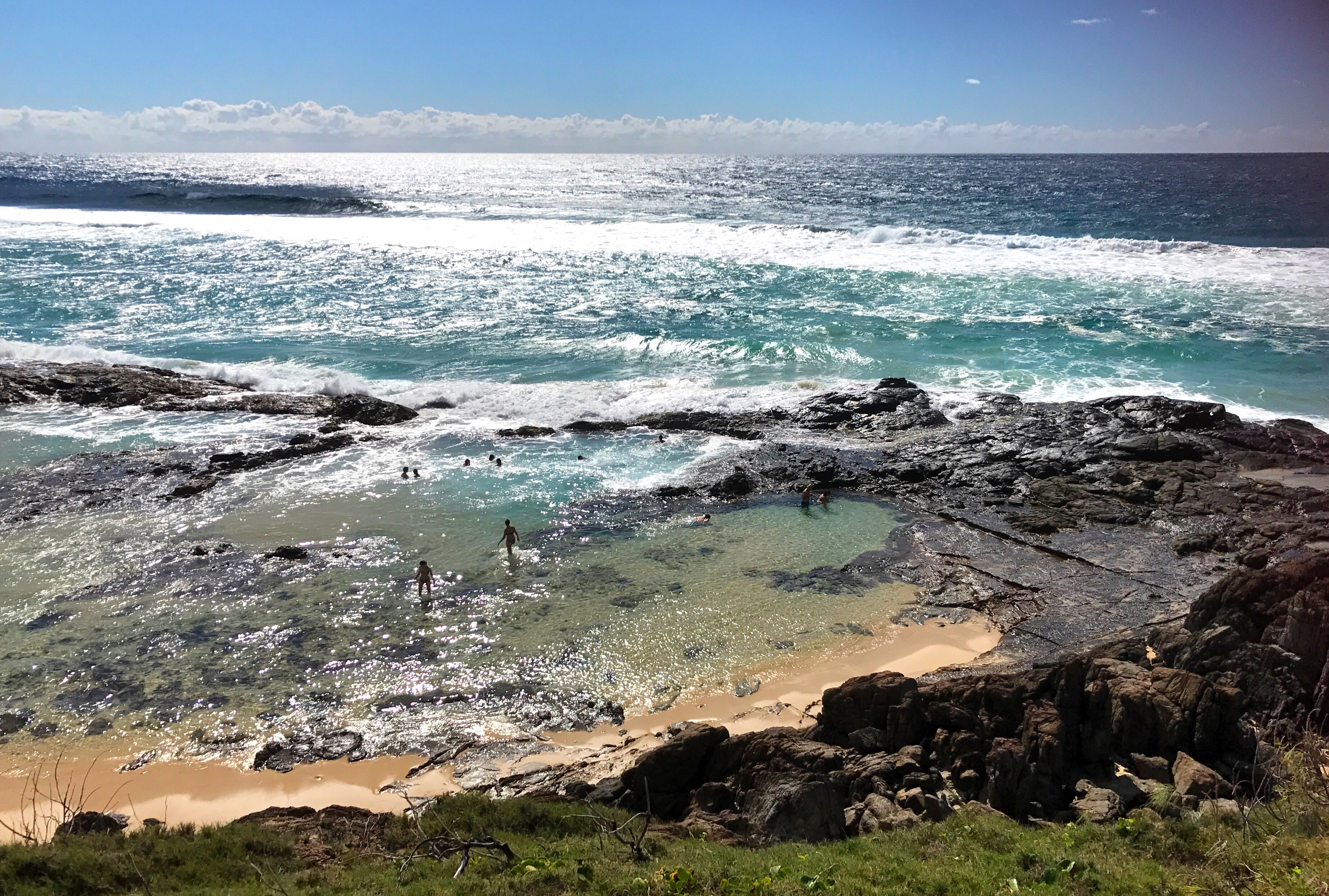 Champagne Pools And Sandy Cape Off The Track Body Foam Is Made Up Of Numerous Swimming Holes Which Form Amongst Rocks As Waves Crash Over Rolls Down Into